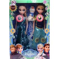 2 Bonecas Do Filme Frozen Disney Musical Elsa E Anna Lindas