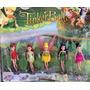 Coleção Em Miniatura Tinkerbell Disney Com 5 Fadas