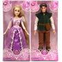 Boneca Disney Store Flynn Rider E Rapunzel Originais
