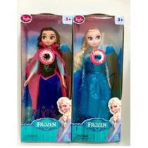 Bonecas Da Frozen Musical Elsa+ Anna