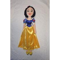 Boneca Princesas Disney Branca De Neve Plush 50cm Importada