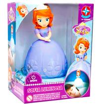Boneca Luminosa Disney Princesinha Sofia Luminária Estrela