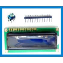 Lcd 16x2 +potenciometro+pinos - Instruções Exemplos 16x02 16