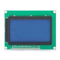 Display Lcd Gráfico 128x64 Com Back Azul E Escrita Branca