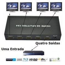 Hub Switch Hdmi 1x4 Divisor 4 Portas P/ Ps3 Xbox Sky Net Hd