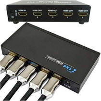 Splitter Distribuidor Hdmi 1x4 Divisor Full Hd 1.3b