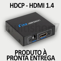 Splitter Distribuidor Divisor Hdmi 1.4v 1x2 Full Hd 3d