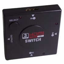 Mini Hub Dispositivo Hdmi Switch Splitter Seletor 3 Portas