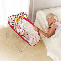 Cadeirinha De Balanço Dobrável Para Bebê Safari Com Móbile