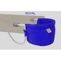 Cadeira Alimentação Dobrável P/ Bebê Cadeirinha Azul Royal