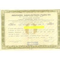 Ações Nominais Induschenil Ind. De Chenile S/a - 1970