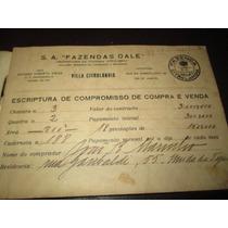 Antiga Caderneta De Escritura Fazenda Citrolandia Rj 1928