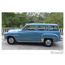 Chrysler Plymouth Utility Placa Preta 1951 Zerado Iclássicos