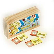 Jogo Domino Adição Cod. 1018 Carlu 28 Peças Em Mdf + Nf