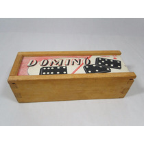Antigo Jogo De Domino - Xalingo Caixa E Peças De Madeira