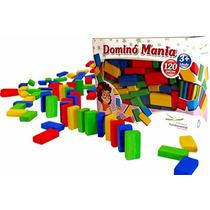 Domino Mania 120pcs Jogo Educativo Coordenacao Madeira