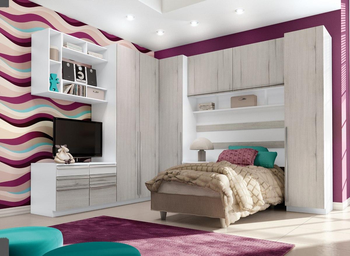 Dormitório Jogo De Quarto Solteiro Modulado Exclusive R  ~ Quarto Planejado Ou Modulado