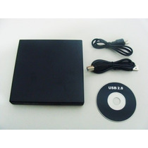 Drive Externo Slim Usb Gravador Leitor Cd E Dvd Novo