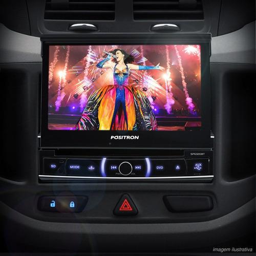 Dvd Automotivo Tela Retratil 7 Touch Screen Positron 6110av