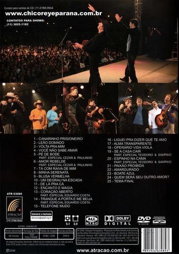 Dvd Chico Rey & Paraná - Ao Vivo - Vol. 1 - Frete Grátis