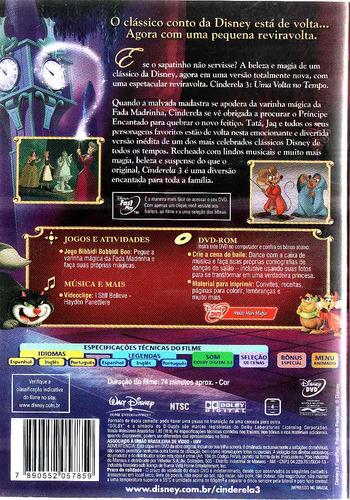 Dvd Cinderela 3 - Uma Volta No Tempo - Disney - Raro
