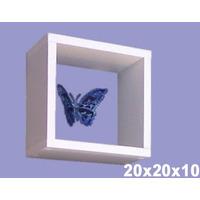 Nicho 20x20x10 Cm-100%mdf 15mm Branco-decorativo Quarto Bebe