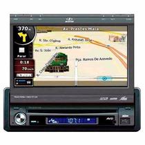 Dvd Player Retrátil 7 C/ Gps H-buster Hbd9650 Usb E Ent Aux