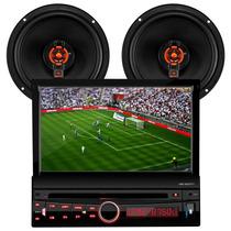 Dvd H-buster C/ Tv + Auto Falante Tela 6 Polegadas 4 Ohms
