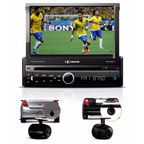 Dvd Player Automotivo Carro Retrátil 7´ Tv Câmera Ré