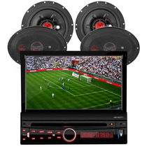 Dvd P/ Carro Completo H-buster + Kit 4 Falante 6x9 240w Rms