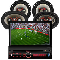 Dvd P/ Carro C/ Tv Touch + Auto Falante Triaxial Quadriaxial
