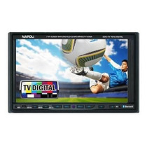 Central Multimidia Napoli 2 Din Dvd-tv 7676 C/ Tv Digital