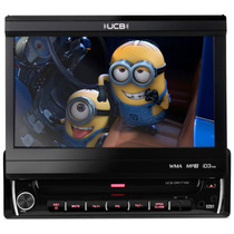 Toca Cd Dvd Retrátil Ucb 171 Tv Digital Usb Mp3 Radio Fm Som