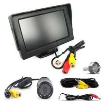 Kit Dvd Tela Monitor De 4.3 Lcd + Câmera Ré C/ Visão Noturna