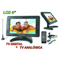 Tela Lcd 9 Polegadas Portatil Tv Digital E Tv Analogica