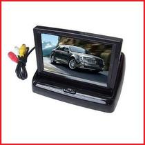 Monitor Lcd Veicular 4.3 P/ Camera Ré Dvd Ps3 Testador Cftv