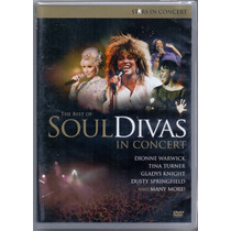 Dvd Soul Divas - The Best Of / In Concert - Novo***