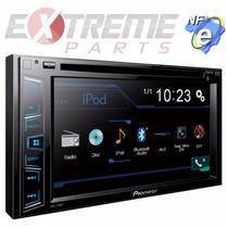 Dvd Pioneer Avh-278bt Bluetooth + Moldura 2din P/ Vectra