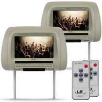 Encosto Cabeça Tela 7 Monitor Lcd Controle Remoto Par