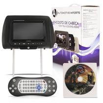 Tela Encosto De Cabeça Com Dvd 7 Lcd Com Game E Controle
