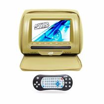 Encosto Cabeca Tela Monitor 7 Polegada Bege Leitor Usb