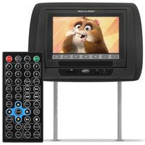 Encosto Cabeça Multilaser Preto Lcd 7 Dvd Usb Sd Controle