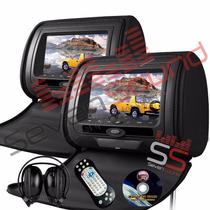 Par Encosto De Cabeça Com Leitor Dvd Sony + Fone E Joystick
