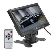 Tela 7 Lcd Tft Monitor Seg Tv Carro Casa + Suporte + Encosto