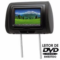 Encosto De Cabeça Tela Lcd 7 Com Dvd Bege Dvd728 - Kx3