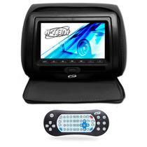 Encosto De Cabeça Leitor Dvd Sony Tela 7 Pol Preto Com Ziper