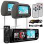 Toca Cd Dvd Pioneer Dvh 7780 Av + Par Encosto Tela Cinza