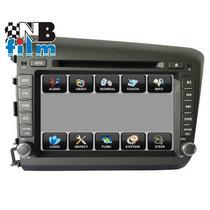 Central Multimídia Honda Civic 2012 / 2013 Dvd Tv Gps Usb Bt