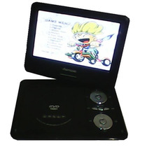 Dvd Player Portátil Tela 9.8 Tv Video Game Fm