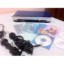 Kit Dvd Player Gradiente + Karaoke + Cds + Microfones